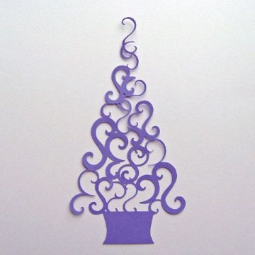 Swirl Christmas Tree Topper